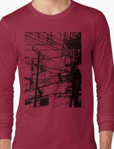 telephone poles Long Sleeve T-Shirt
