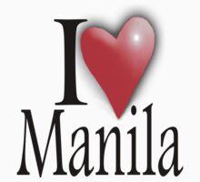 I LOVE, MANILA, Filipino, Maynilà, Philippines One Piece - Long Sleeve