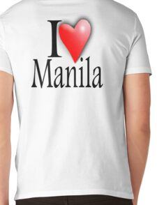 I LOVE, MANILA, Filipino, Maynilà, Philippines Mens V-Neck T-Shirt