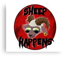 Sheep Happens Canvas Print