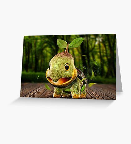 Realistic Pokemon: Turtwig Greeting Card