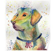Labrador Retriever Watercolor Nursery Art Poster