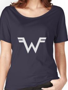 Weezer =W= Logo White Women's Relaxed Fit T-Shirt