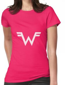 Weezer =W= Logo White Womens Fitted T-Shirt