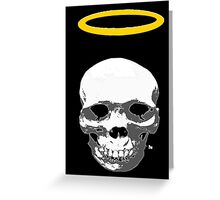 skull with halo Greeting Card