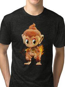 Realistic Pokemon: Chimchar Tri-blend T-Shirt
