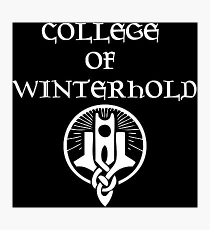 College of Winterhold Photographic Print