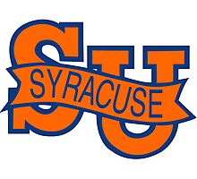 Syracuse Orange University Blue Photographic Print