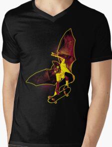 Skate Bat Mens V-Neck T-Shirt