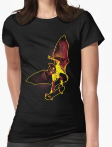 Skate Bat Womens Fitted T-Shirt