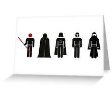 Star Wars Villains Greeting Card