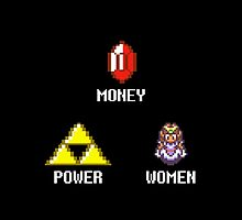 Money Power Women Legend of Zelda pixel by kebuenowilly