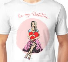 Woman with heart in hands Unisex T-Shirt