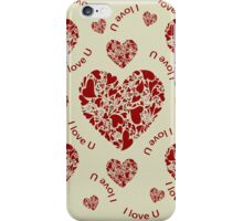 Hearts, hearts, hearts iPhone Case/Skin