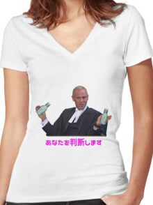Aesthetic - Judge Rinder Arizona Iced Tea Vaporwave Women's Fitted V-Neck T-Shirt