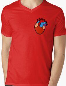 Anatomical Heart Pattern Mens V-Neck T-Shirt