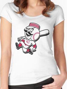 cincinnati reds Women's Fitted Scoop T-Shirt