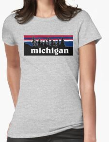 Michigan Womens Fitted T-Shirt