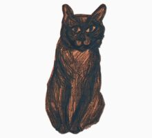 Sketchy Cat One Piece - Short Sleeve