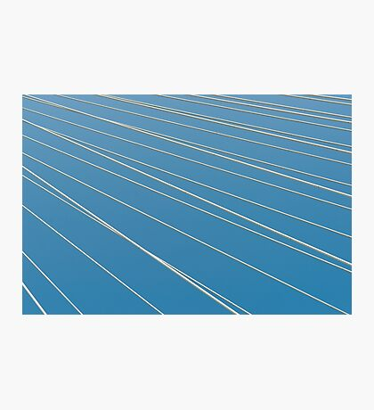 Abstract diagonal white lines Photographic Print