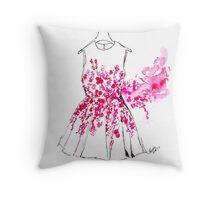 Cherry Blossom Dress Throw Pillow