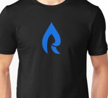 Faze Rain | Raindrop | Dark Blue | Black Background |  Unisex T-Shirt