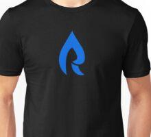 Faze Rain | Raindrop | Dark Blue | Black Background |  Unisex T-Shirt