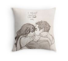 Nick and Jess Throw Pillow