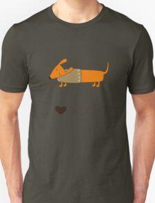 Winter dachshund Unisex T-Shirt