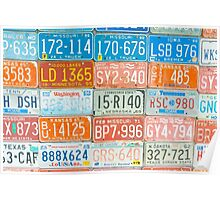 Vehicle rego plates Poster