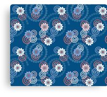 Swirls and flowers Canvas Print