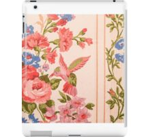 Background floral pattern with humming bird, retro  iPad Case/Skin