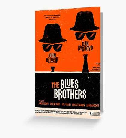 classic movie : The Blues Brothers Greeting Card