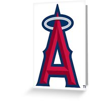 los angels of anaheim Greeting Card