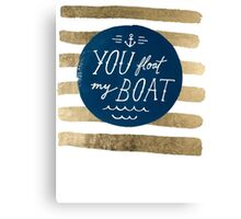 You float my boat Valentine's Day Canvas Print