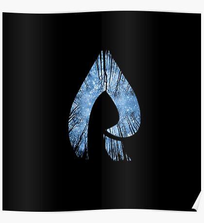 Faze Rain | Raindrop | Forest | Black Background | [HIGH QUALITY] Poster