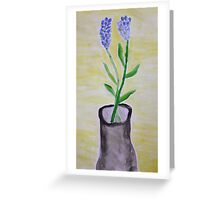 Wildflowers In A Vase Greeting Card