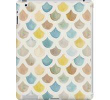 Watercolor Mermaid Scales - Yellow & Blue iPad Case/Skin