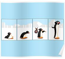 The penguin evolution Poster