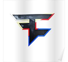 Faze 2.0 | World Logo | White Background Poster