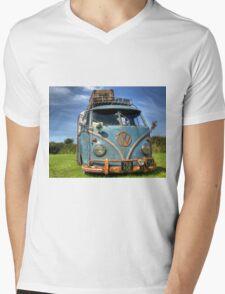 Blue VW Mens V-Neck T-Shirt