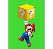 Mario Jumping Photographic Print