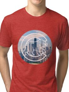 Chicago Cubs Skyline Logo Tri-blend T-Shirt