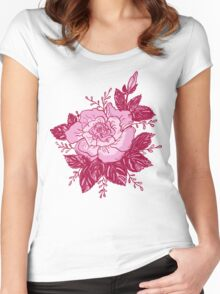 Romantic roses Women's Fitted Scoop T-Shirt