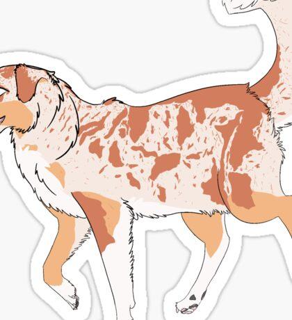 Red Merle Sticker