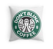 Weeping Angel of Original Starbucks Logo Throw Pillow