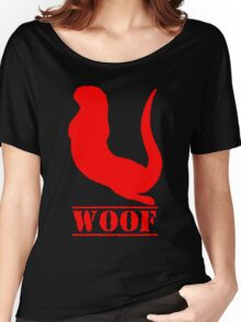 red otter woof Women's Relaxed Fit T-Shirt
