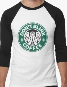 Weeping Angel of Original Starbucks Logo Men's Baseball ¾ T-Shirt