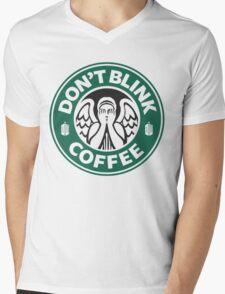 Weeping Angel of Original Starbucks Logo Mens V-Neck T-Shirt
