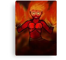 Ignis (Warrior of the Flames) Canvas Print
